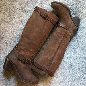 Frye Heeled Leather Tall Boots